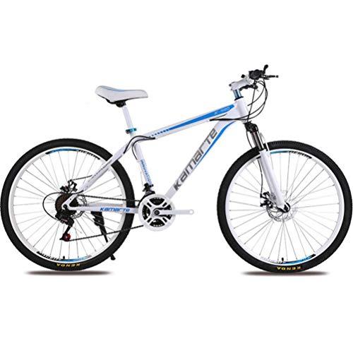 Tbagem-Yjr 24-Zoll-Mountainbike for Erwachsene - Pendler Stadt Mit Variabler Geschwindigkeit Hardtail Fahrrad Radfahren (Color : White Blue, Size : 24 Speed)