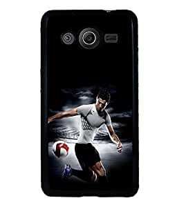 printtech Football Player Back Case Cover for Samsung Galaxy Core Prime G360