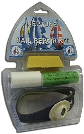 Sail Repair Kit Leather Palm Needles Beeswax Boat Yacht Dinghy Sewing