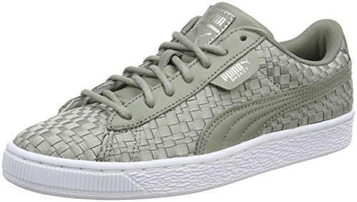 Puma Damen Basket Satin EP WN's Sneaker, Grau (Rock Ridge), 38.5 EU