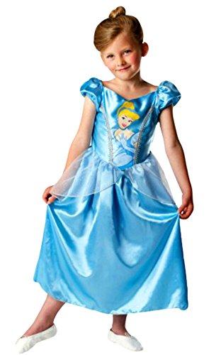 n Karneval Kostüm- Disney Cinderella Prinzessin Engel Fee Elfe Märchen, hellblau, 5-6 Jahre (Engel Prinzessin Kostüm)