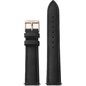 Cluse Damen Uhrenarmband Leder  La Bohème Schwarz/Rose – goldfarben CLS001