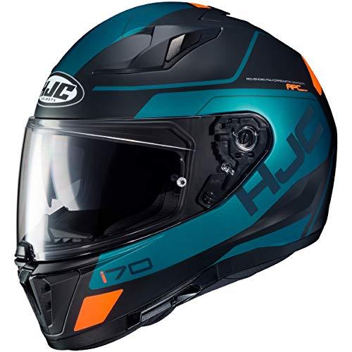 HJC 14937608 Motorrad Helm, Schwarz/Grun, M