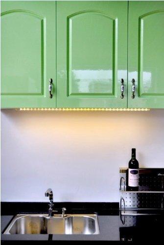 LED Lichtleiste Lichtfarbe warmweiß 90cm - 3 LED Sticks inclusive 36 LED Dekoleuchte (erweiterbar)