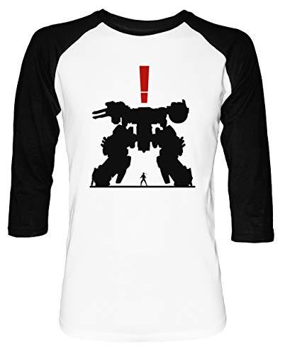 Metall Ausrüstung Solide Herren Damen Unisex Baseball T-Shirt Weiß Schwarz 2/3 Ärmel Women's Men's Unisex - Xbox 360 Baseball-spiele,