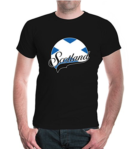 buXsbaum® T-Shirt Schottland-Logo Black-z-direct