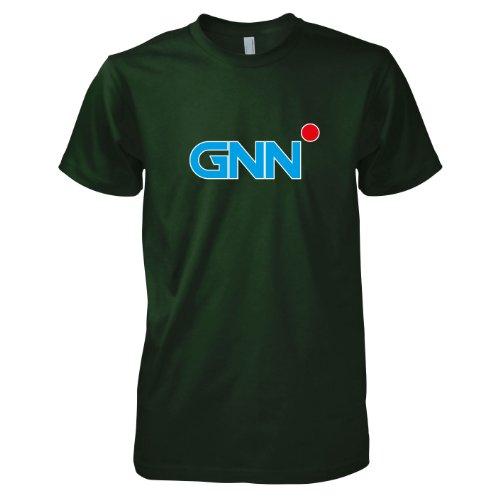 TEXLAB - Global News Network - Herren T-Shirt Flaschengrün