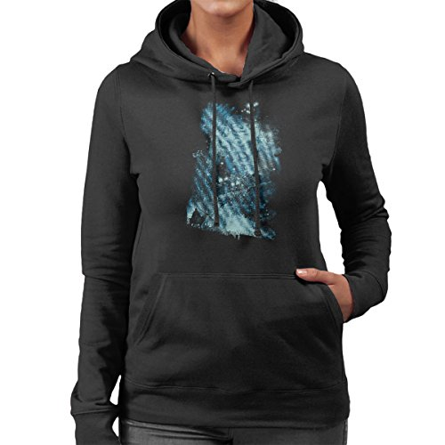 Princess Mononoke Forest Spirit Rising Women's Hooded Sweatshirt Black
