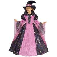 Dress Up America Disfraz de bruja de lujo para niña