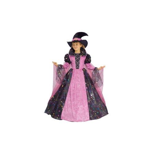Deluxe Rosa Hexe Kostüm - Dress Up America Kleines Mädchen Deluxe