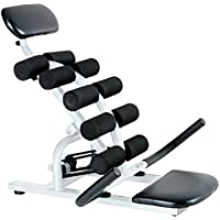 Fitness House Balance Power Aparato para Espalda, Unisex Adulto, Blanco/Negro, Talla Única