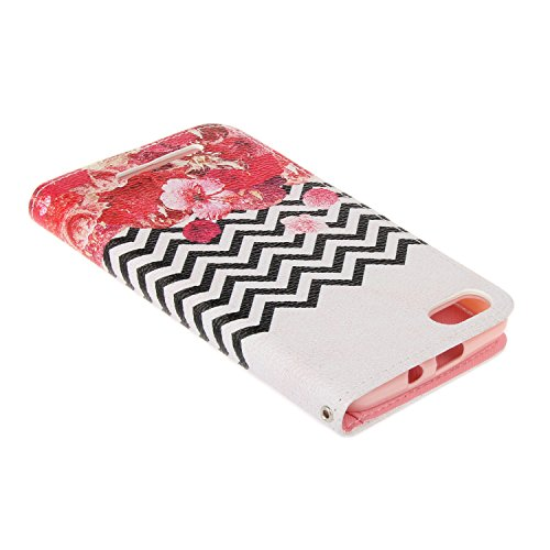 Custodia per iPhone 6 Plus / 6S Plus (5,5 Zoll),Cover per iPhone 6 Plus / 6S Plus (5,5 Zoll) in Silicone Case,Cozy Hut PU Pelle Custodia,Lusso Accessori Wallet Case Book Design Folio Shell Bumper Attr Parete,fiori di campo