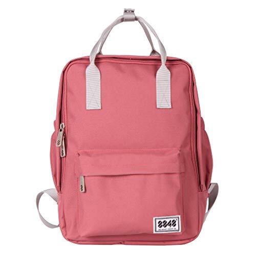 Reiserucksack, wasserfest, leicht, für Damen und Mädchen Pink Rose m