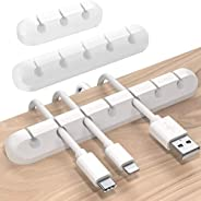 Smilee Cable Holder Clips, 3-Pack Cable Management Cord Organizer Clips Silicone Self Adhesive for Desktop USB