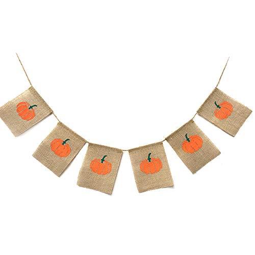 Chytaii Banner, Kleine Wimpelkette, aus Jute, Garten, Haus, Halloween, Kürbis, niedliche Mädchen, Frauen und Kinder -