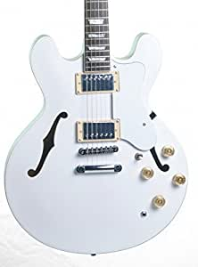Keytone Guitare Électrique Jazz / Demi Resonance Es-Style Blanc Mat
