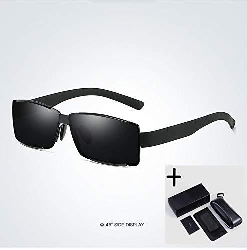 LKVNHP Hohe Qualität Polarisierte Sonnenbrille Männer Frauen Angeln Fahren Sonnenbrille RahmenSchwarz-Schwarz