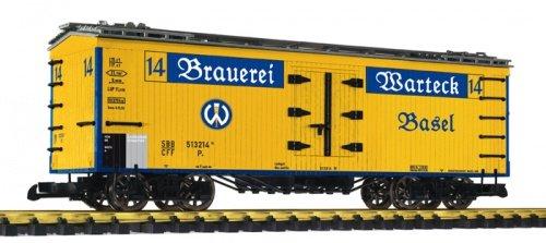 Preisvergleich Produktbild Liliput gedeckter Bierwagen Warteck,Spur G Gartenbahn
