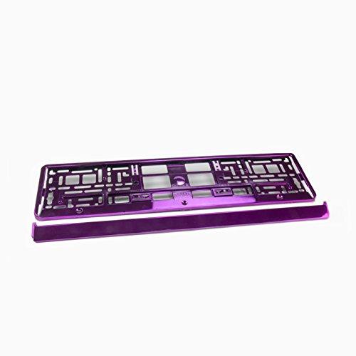 2 x Kennzeichenhalter Nummernschildhalter Kennzeichenhalterung Farbe:rosa Glanz