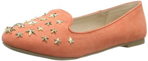 Buffalo Girl 118-1 MICRO SUEDE 145870 Damen Slipper Orange (CORAL 01)