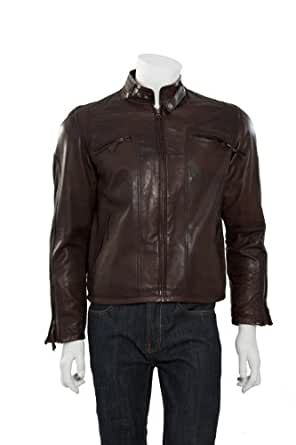 Armo - Hommes Blouson Veste en cuir / Brun