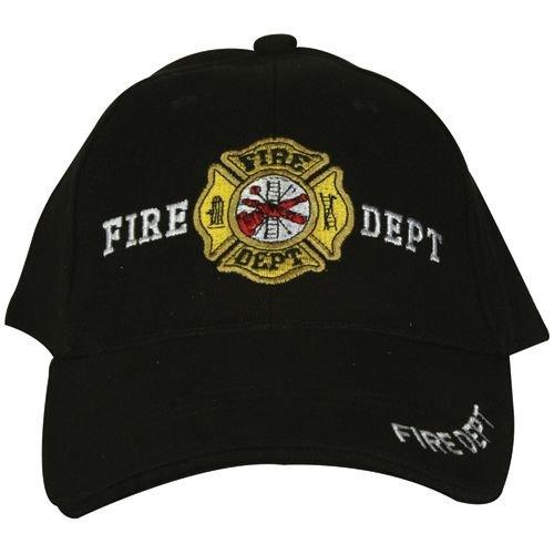 Tradewinds Schwarz und Gold Fire Fighter Abteilung Gesticktes Baseball Style Hat Cap (Hat Fire Fighter)
