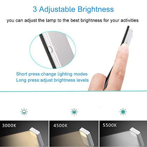 Revistas,etc. EasyULT LED Lampara de lectura,Luz de Libro USB Recargable,3 Modos de Clip de Brillo,Flexible A 360 /°,Libro Luz LED Plegable con Clip para Libros Clase de eficiencia energ/ética A+