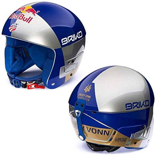 Casco Briko Junior red bull Lindsey Vonn FIS 6.8, color azul,...
