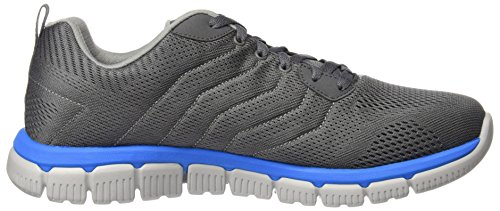 Skechers Flex 2.0, Chaussures Multisport Outdoor Homme Gris (Charcoal/blue)