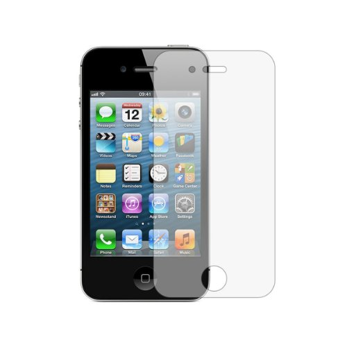 3 x Membrane Films de protection écran Apple iPhone 4 / 4G / 4S - Ultra clair, kit d'installation