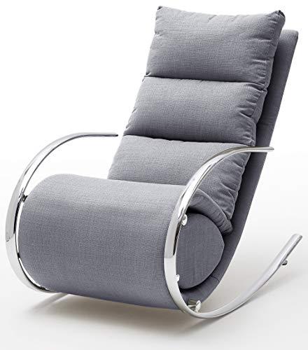 Robas Lund  Relaxsessel/Schaukelstuhl, York, Webstoff, ca. 67 x 111 x 102, grau