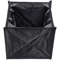 KEENSO - Cesta de almacenamiento para cuerda de escalada, portátil, plegable, cuerda de escalada, cesta, bolsa de almacenamiento con marco de almacenamiento, color negro