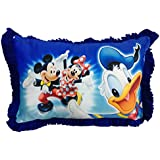 Jikko Kids Cartoon Print Premium Pillows With Fillers/Inserts (Mickey Mouse)