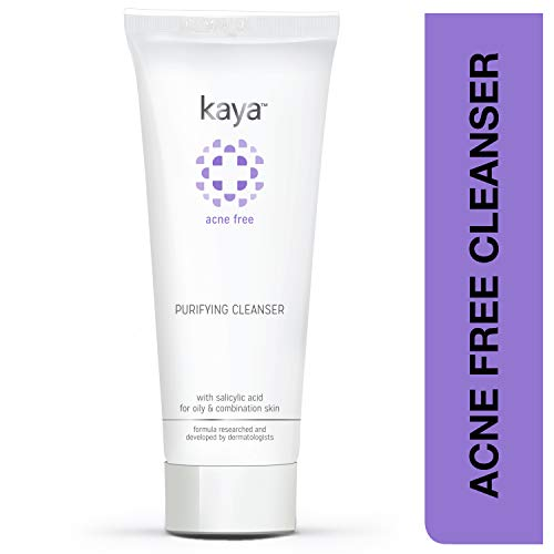 Kaya Clinic Acne Free Purifying Cleanser, Salicylic Acid enriched face wash for acne-prone & oily skin, 100 ml