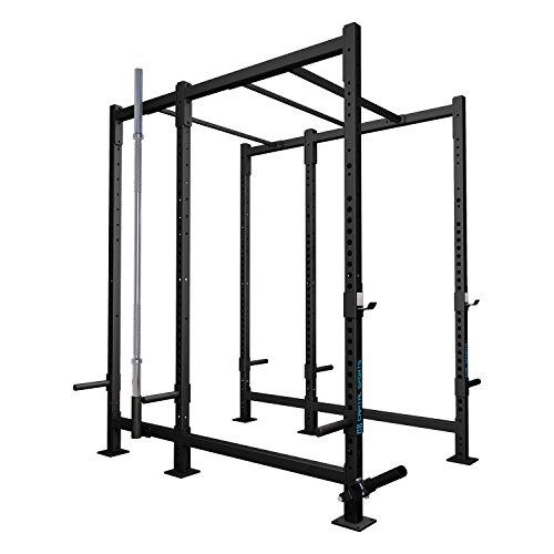 CAPITAL SPORTS Dominate Edition Set 11 Basis-Rack Power-Rack Power-Cage Cross-Trainings-Box mit Klimmzugstangen, 1x T-Bar Row Trainer(1x Paar J-Cups, Gewichtsscheiben-Halterungen, Hantelhalterung)
