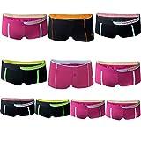 REMIXX Damen Baumwolle Hipster Hot Pants, 10er Pack, S/36-38