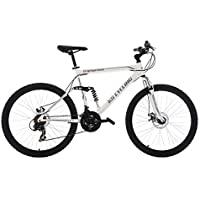 "KS Cycling VTT Tout Suspendu Blanc 26"""