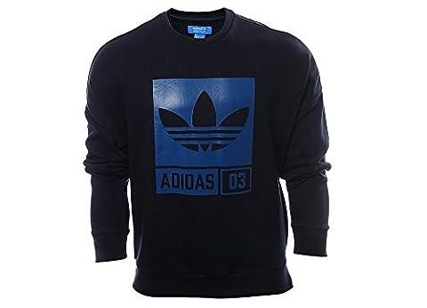 adidas AJ7708 Sweat-shirt Homme Bleu/Gris FR : S (Taille Fabricant : S)