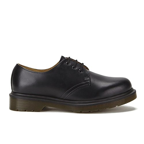 Hommes Dr. Martens Originals 1461 Pw 3-Eye Smooth Cuir Gibson Chaussures - Noir Noir