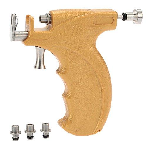 Anself - Pro Set de Pistola de Piercing de Acero Inoxidable para Oreja Nariz