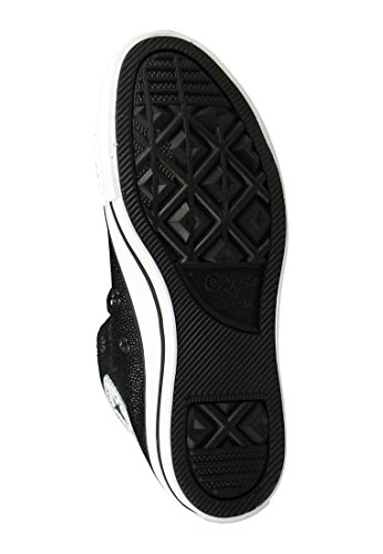 Converse Chucks 553346C CT AS Sting Ray cuir Argent Argent Pur Noir Blanc Black White