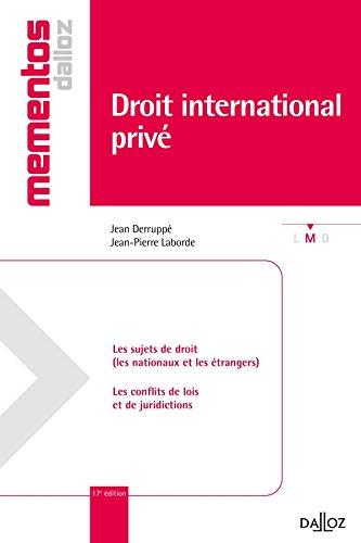 Droit international privé - 17e éd.: Mémentos