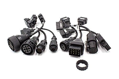 vhbw Set Adaptateur OBD1 sur OBD2 pour camions par ex. Iveco, Knorr, Man, Mercedes, Renault, Scania, Volvo