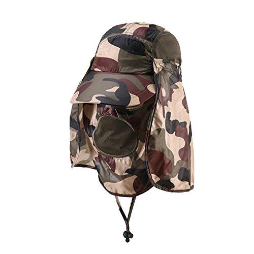 MEICHEN-Outdoor sun protection Hat Camo jungle cappelli all'aperto fisherman Hat Cappello da sole traspirante e ad asciugatura rapida Hat,Verde foglia