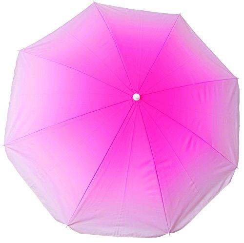 sans marque Parasol Tie and Dye Anti-UV 160 Cm Inclinable Coloris Aléatoire