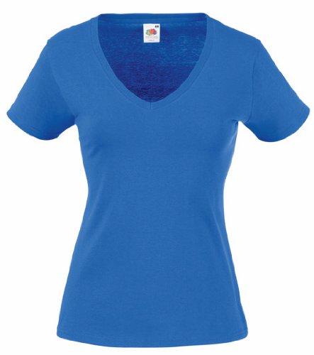 Damen V-Ausschnitt Kurzarm T-Shirt Lady-Fit V-Neck Shirt verschiedene Farben und Größen - Shirtarena Bündel XS,Royal (Blau Kurzarm-shirt)
