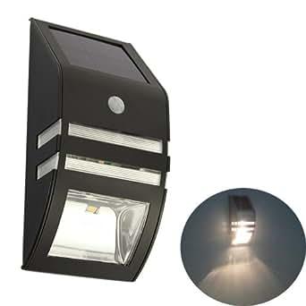 super hoelle edelstahl solar led pir bewegungssensor lampen wegeleuchten wandleuchte zaun. Black Bedroom Furniture Sets. Home Design Ideas