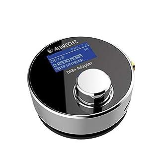 Albrecht DR 54 DAB+ Digitalradio Adapter fürs Autoradio oder Wohnzimmer, Kabellose Übertragung per FM Transmitter, Aux-Out, Farbe: Silber/schwarz