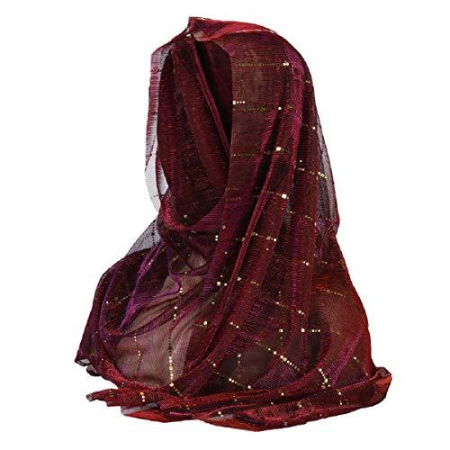 Barlingrock Scarf Muslimisches Kopftuch Hijabs Cap für Damen Schals Cape Shawl Wrap Reversible Cloche Hut