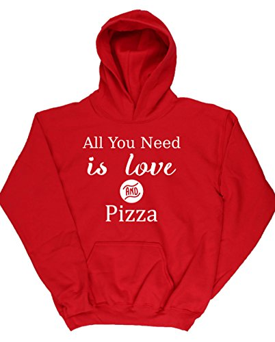 hippowarehouse-all-you-need-is-love-and-pizza-kids-unisex-hoodie-hooded-top